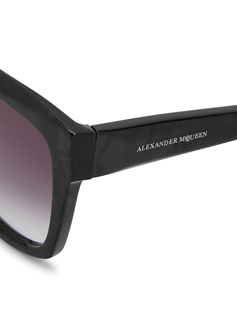 Grey sqaure-frame sunglasses - Alexander McQueen