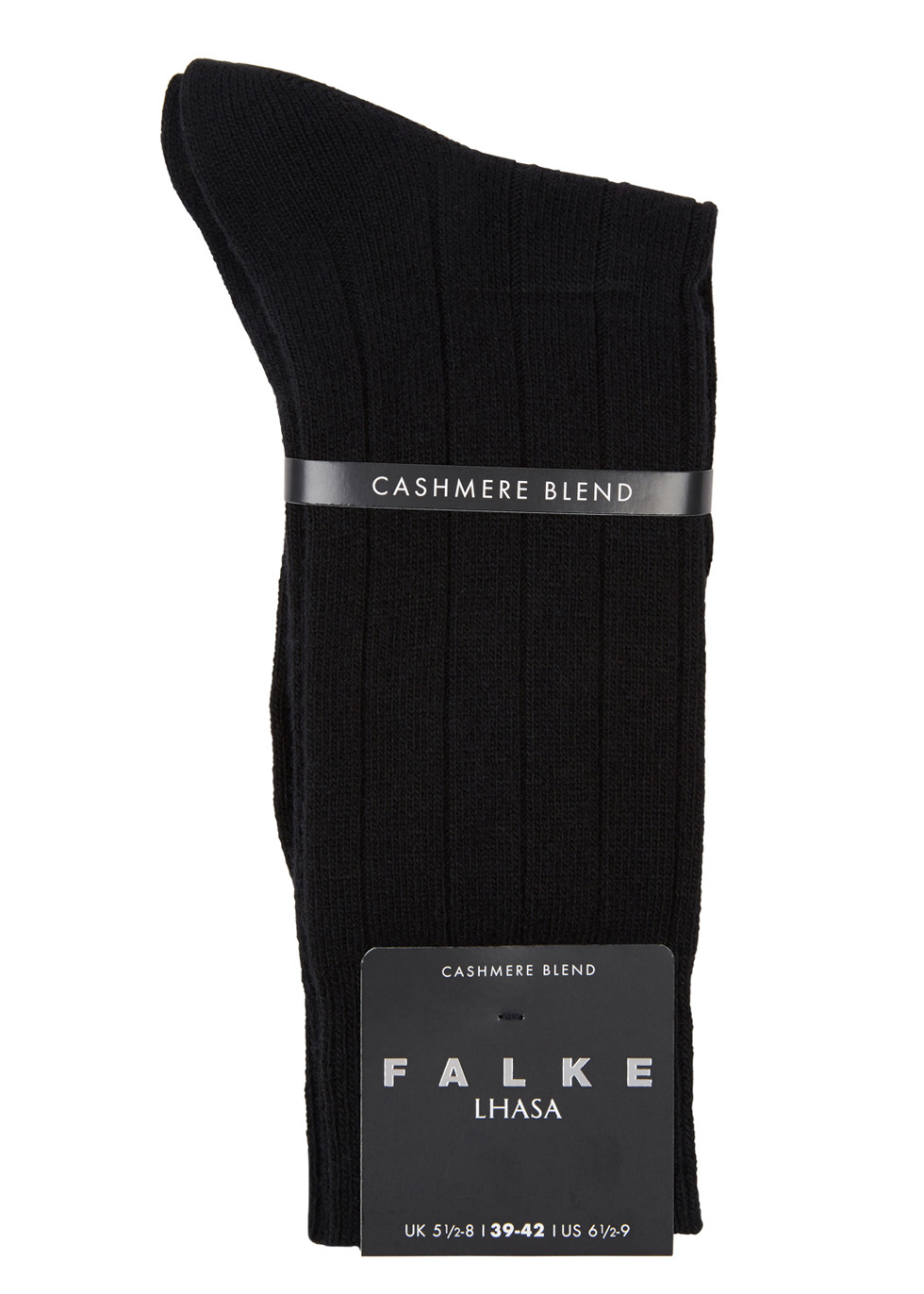 Black cashmere blend socks - Falke