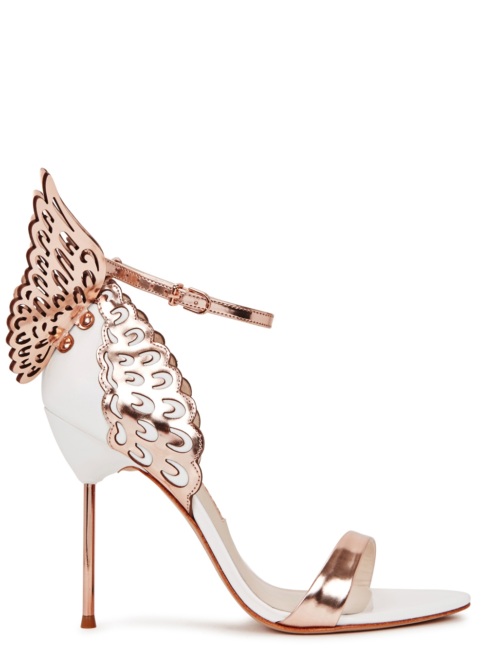 Evangeline 100 winged leather sandals
