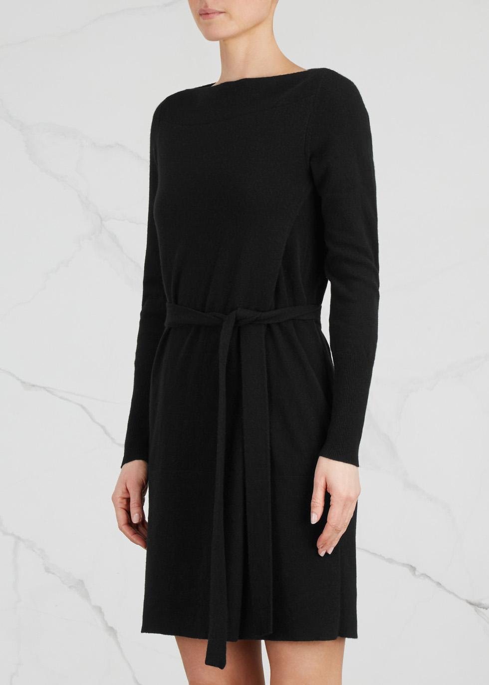 Black cashmere wrap dress - Le Kasha
