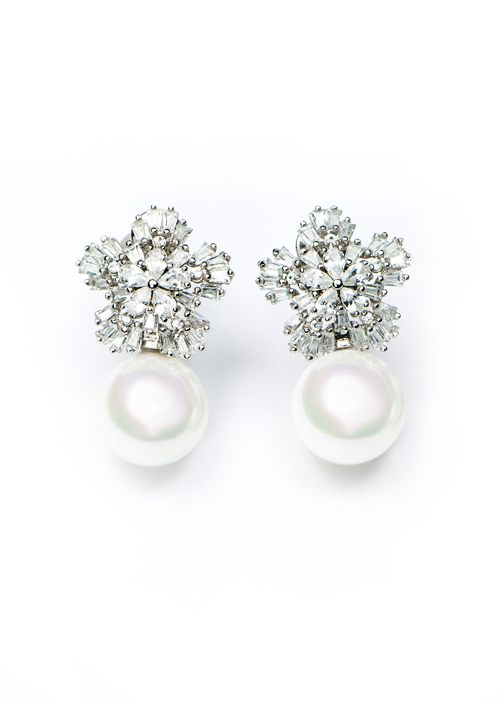 ARLENE PEARL CLUSTER EARRINGS