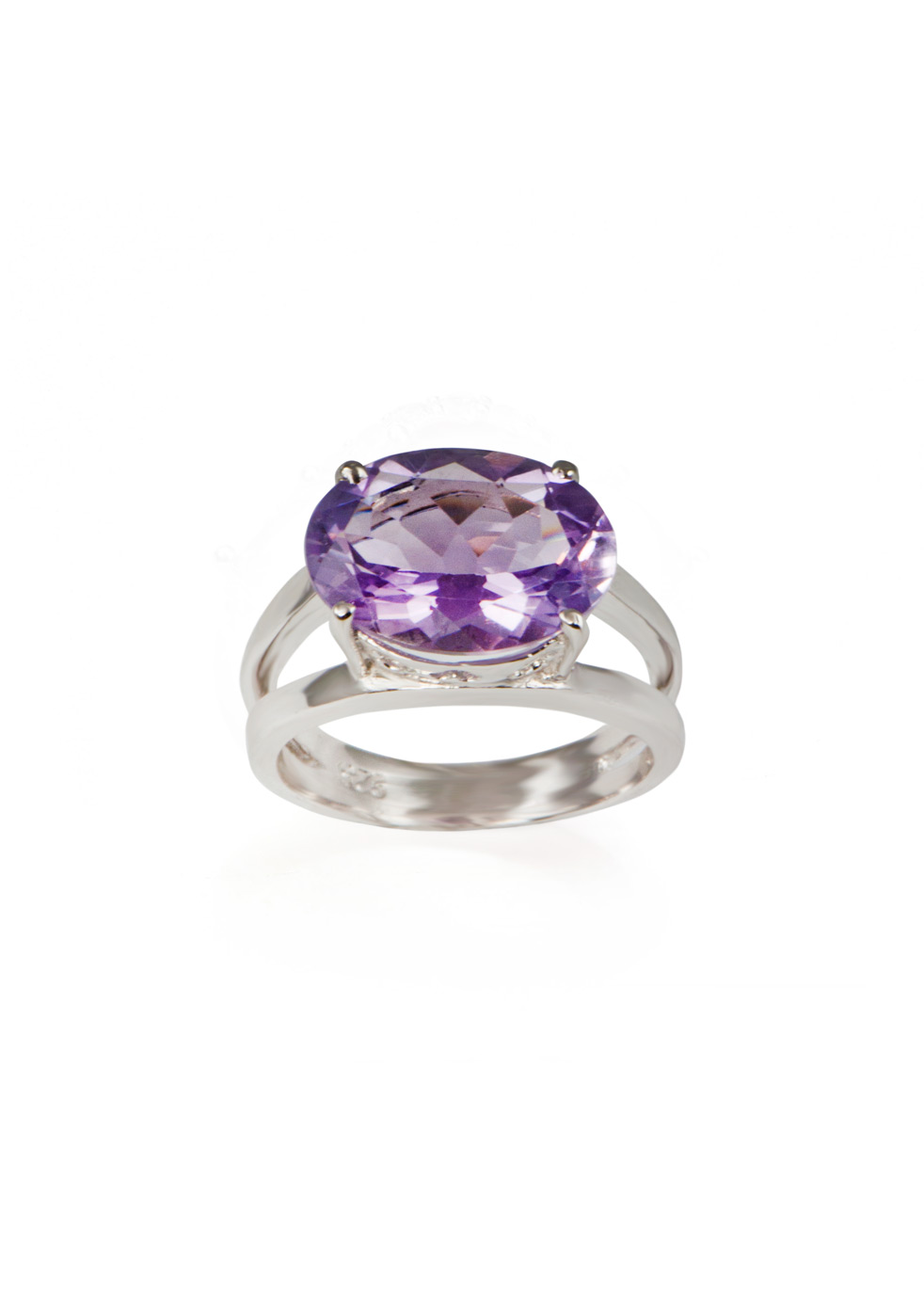 APPLES & FIGS AMETHYST MOON OVAL RING