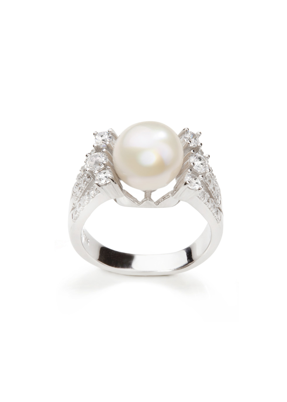 APPLES & FIGS PEARL MOON RING