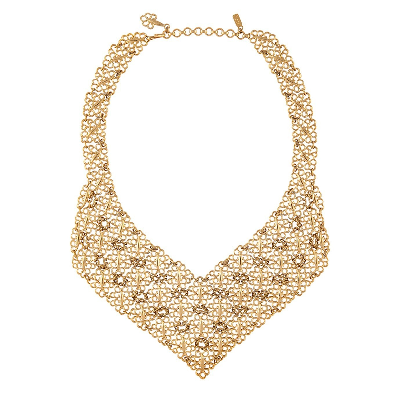 1970S VINTAGE MONET FILIGREE BIB NECKLACE