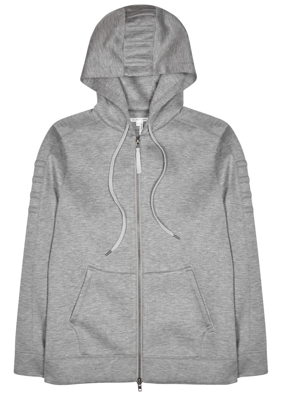 Grey hooded modal sweatshirt - Helmut Lang