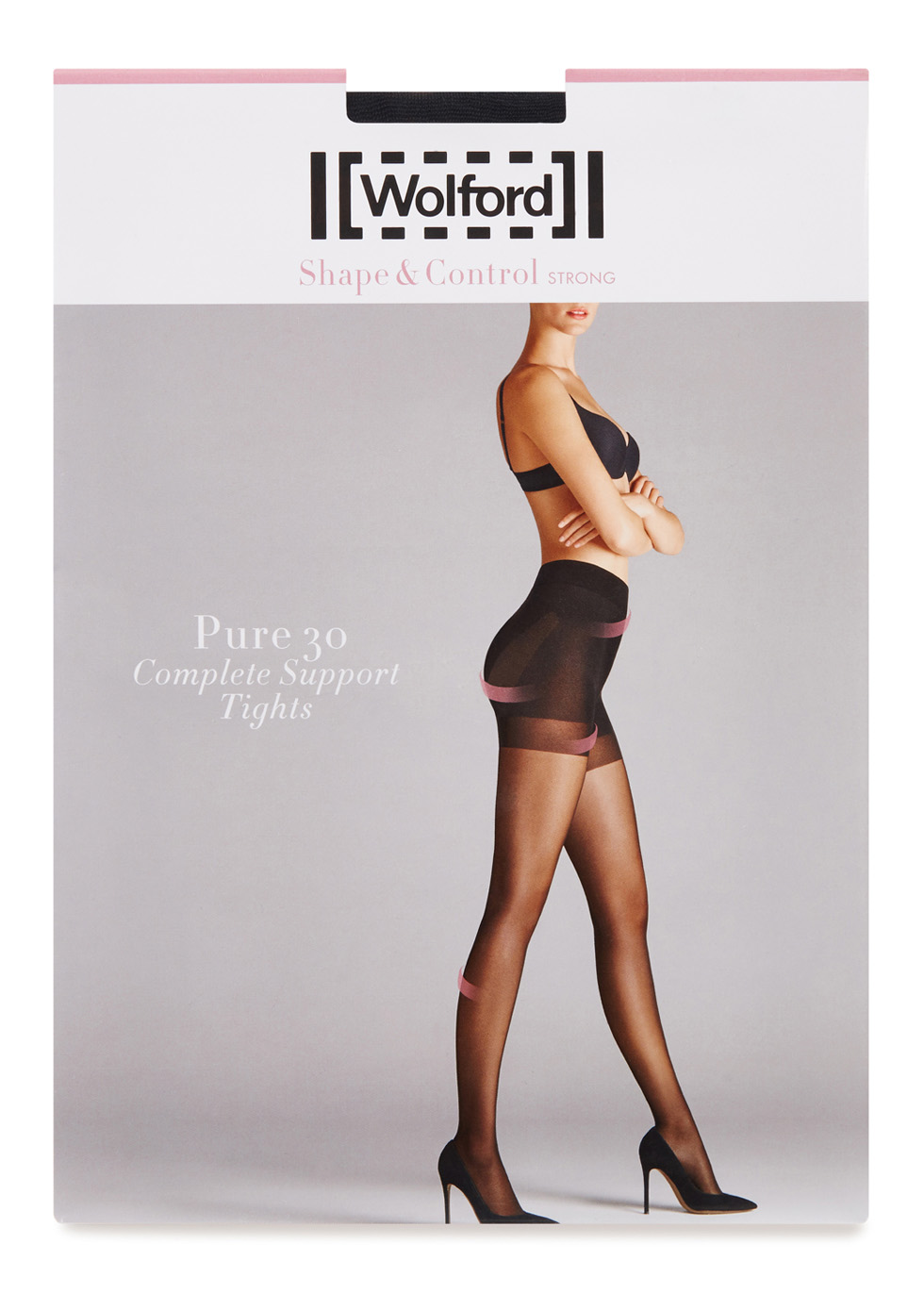 Pure black 30 denier support tights - Wolford