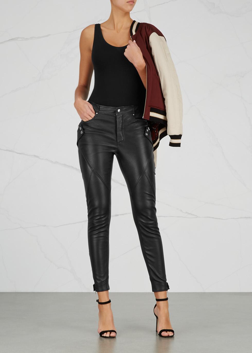 Black seamless jersey bodysuit - Wolford