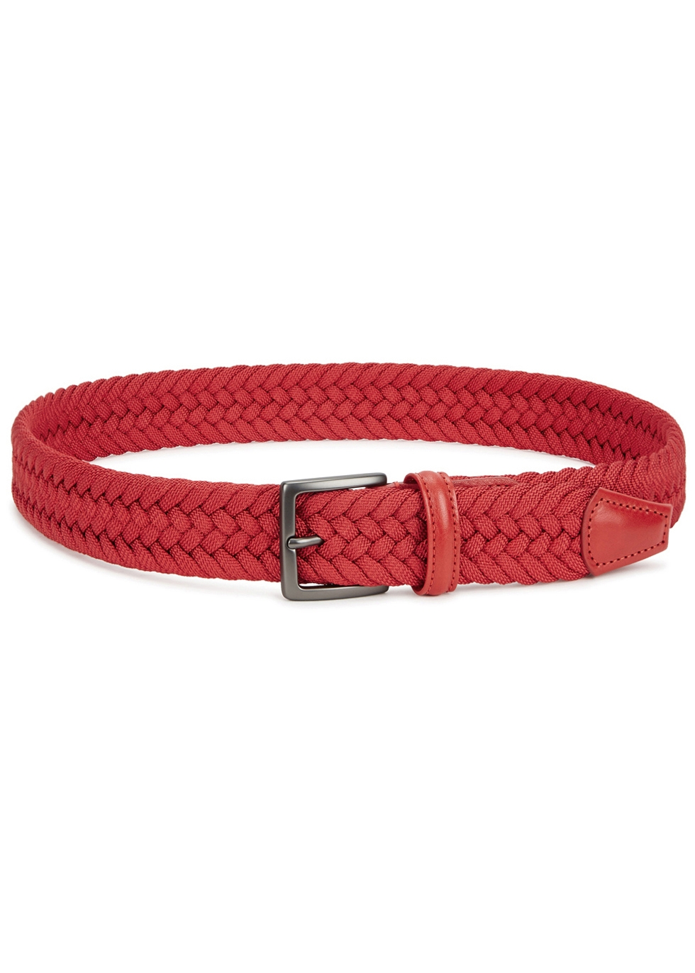 Red woven canvas belt - Anderson's