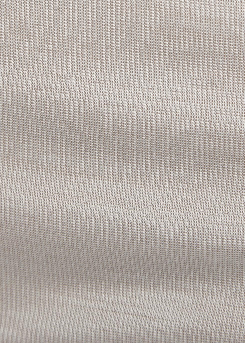 Light grey fine-knit silk tank - Rick Owens