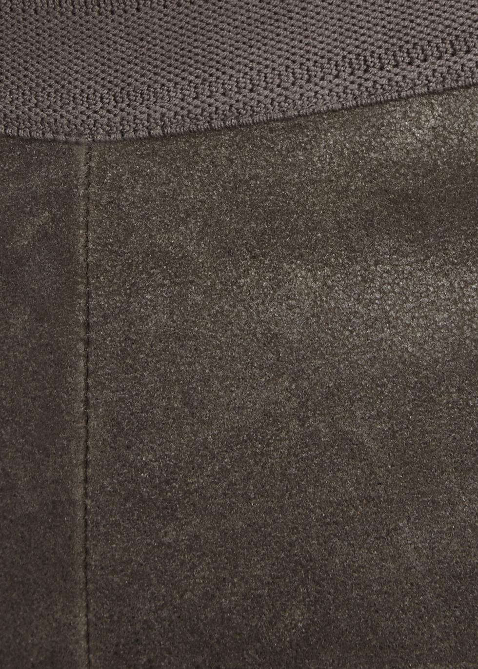 Grey stretch leather leggings - Rick Owens