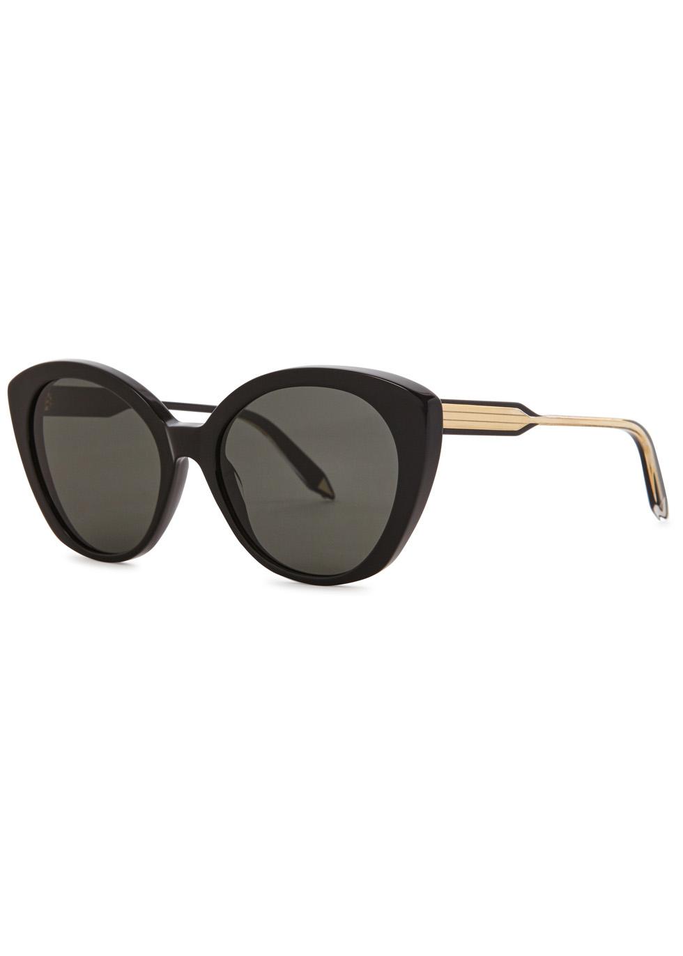 Kitten black cat-eye sunglasses - Victoria Beckham