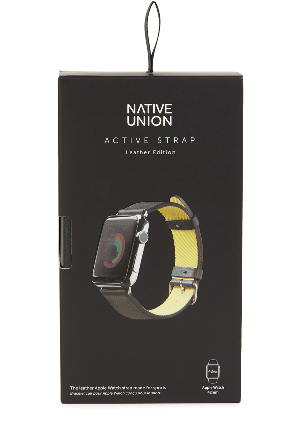 ACTIVE black leather watch strap - Native Union