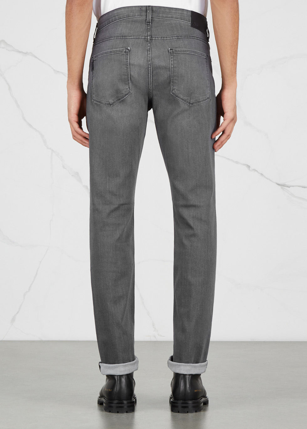 Federal grey straight-leg jeans - Paige