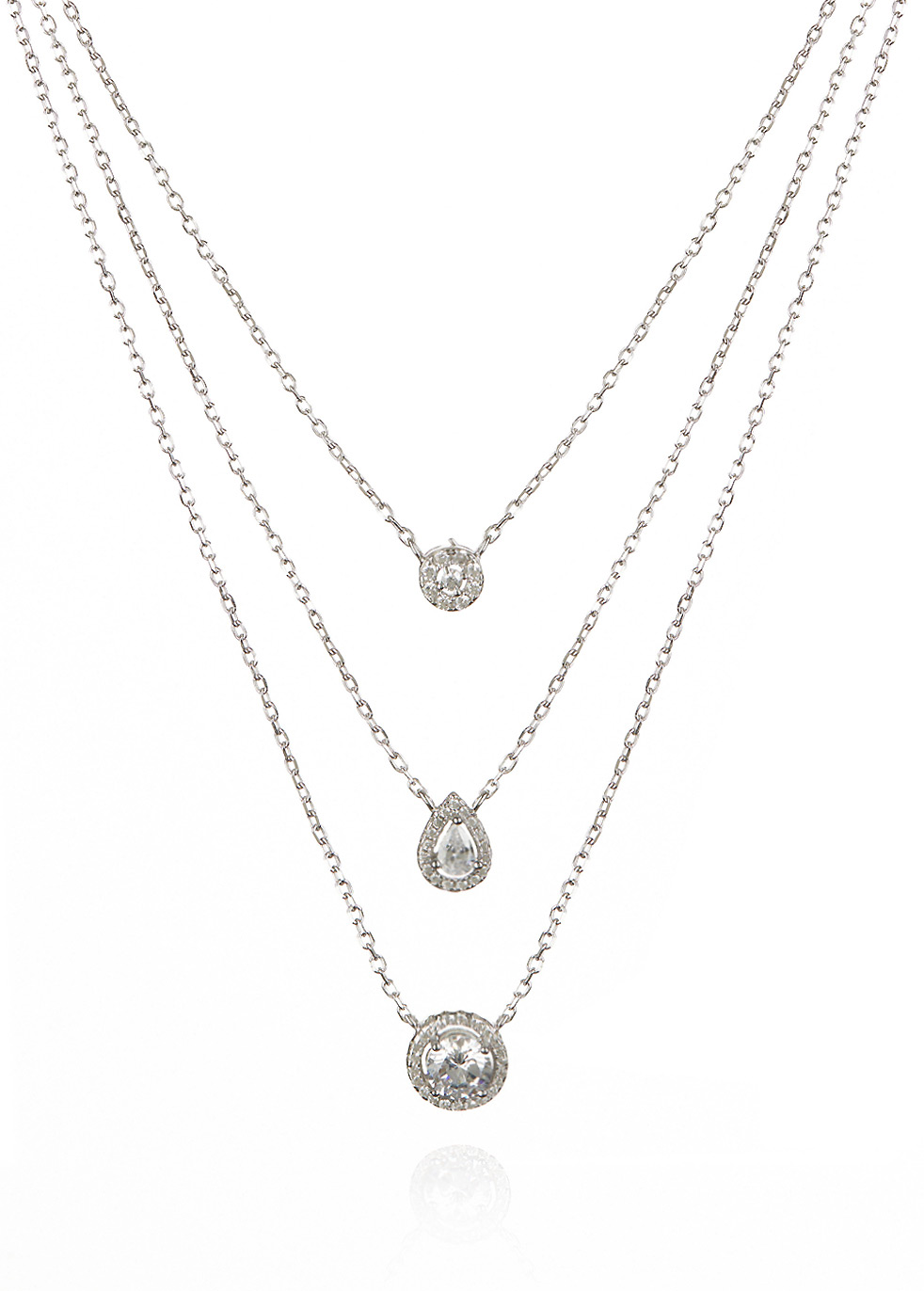 APPLES & FIGS LAYERED SOLITAIRE NECKLACE