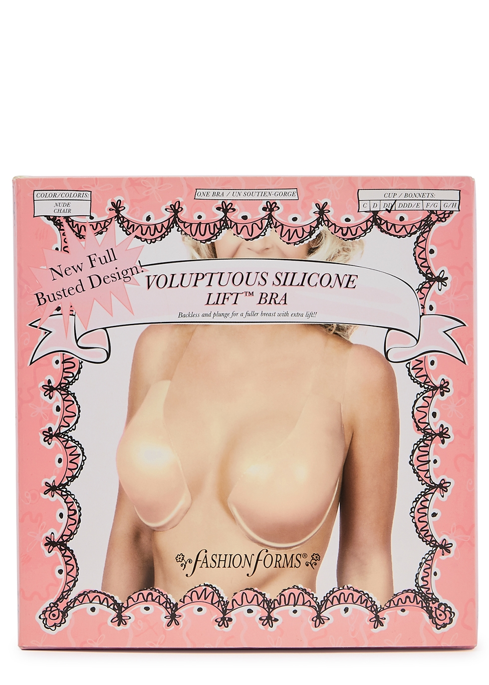 Voluptuous halterneck adhesive silicone bra