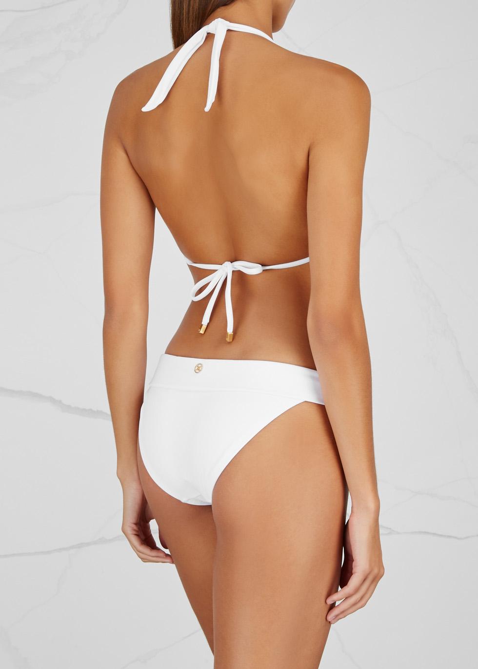 Bia white halterneck bikini top - V i X Paula Hermanny