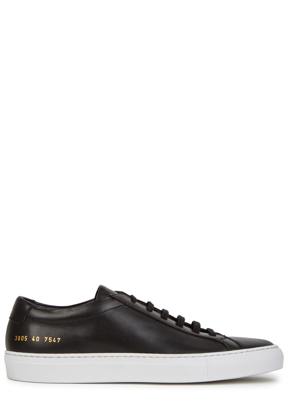 Achilles black leather sneakers