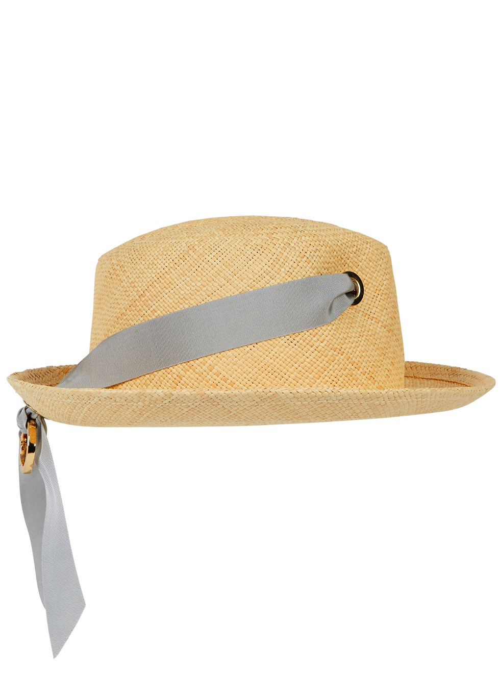 Sand straw panama hat - Federica Moretti