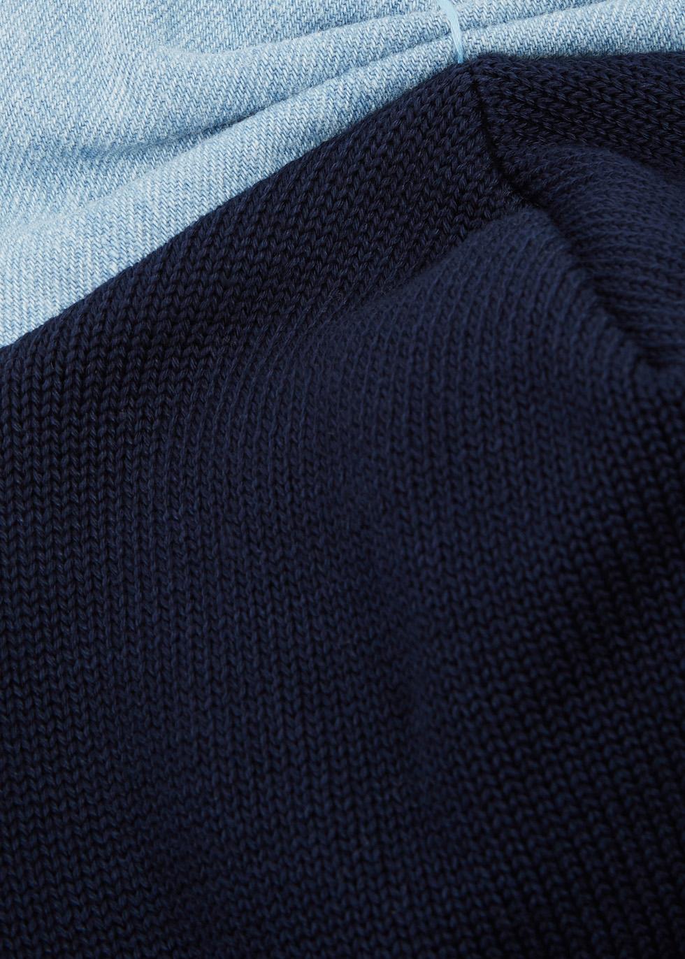 Black bow-embellished cotton beanie - Federica Moretti