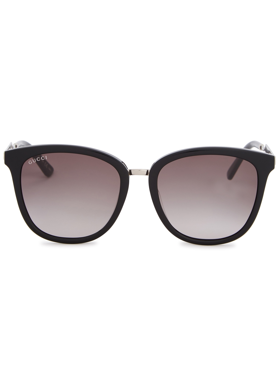 Black square-frame sunglasses - Gucci