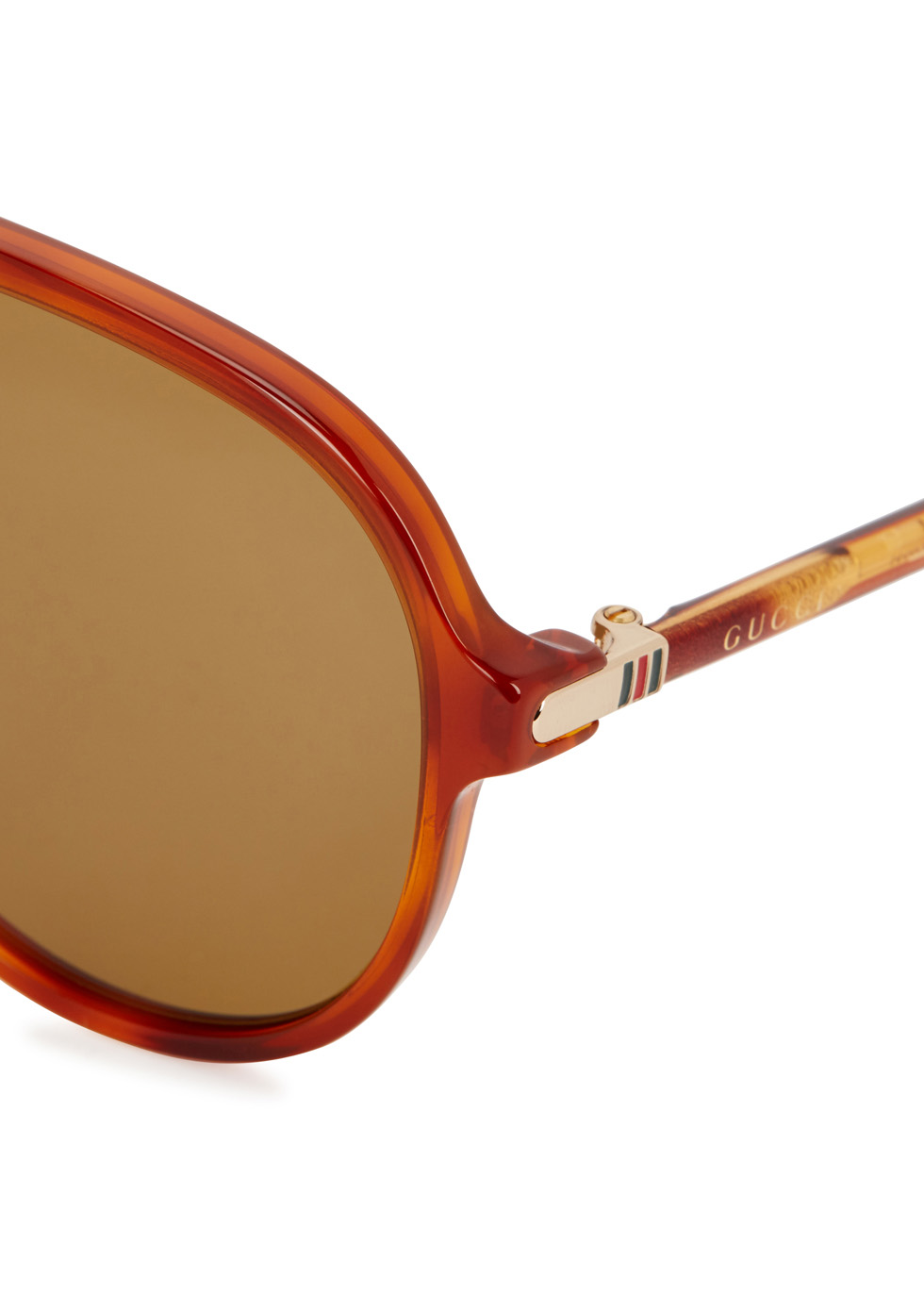 Tortoisehell aviator-style sunglasses - Gucci