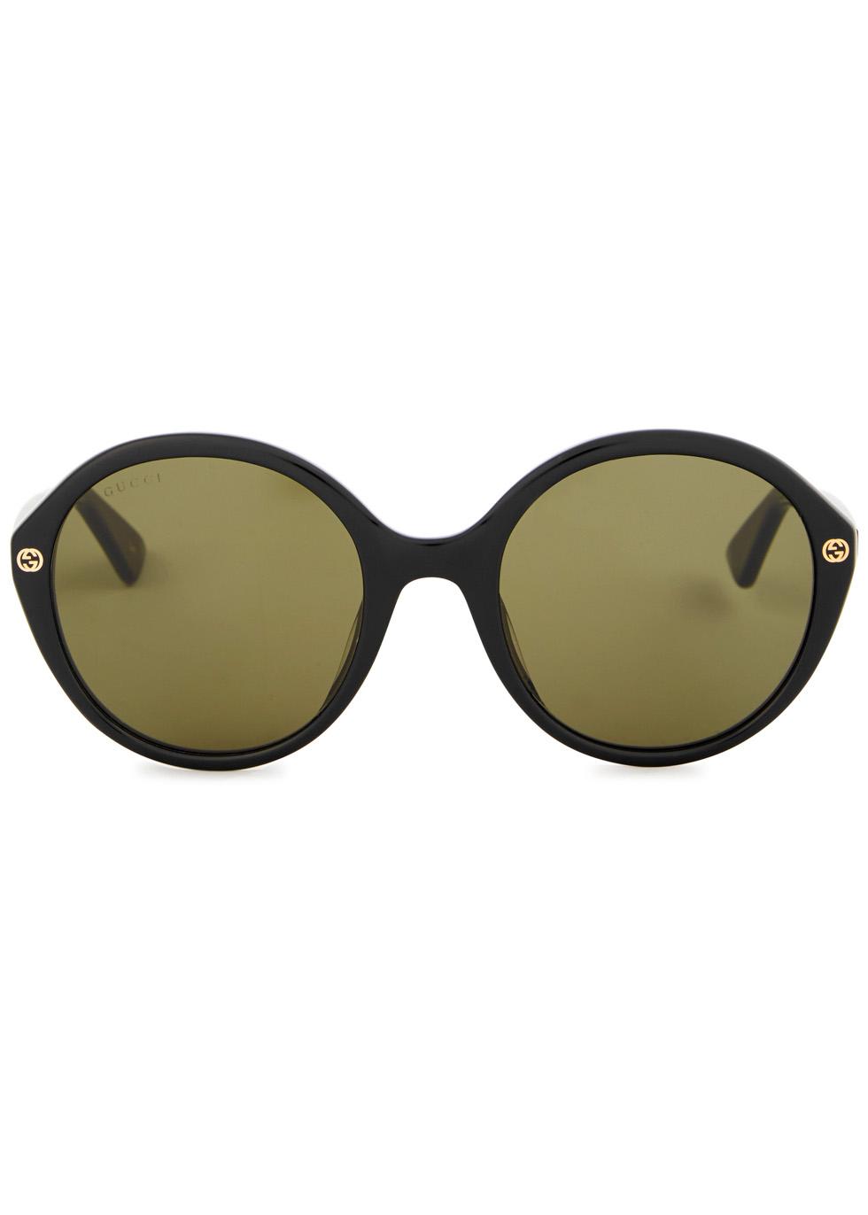 GG black round-frame sunglasses - Gucci