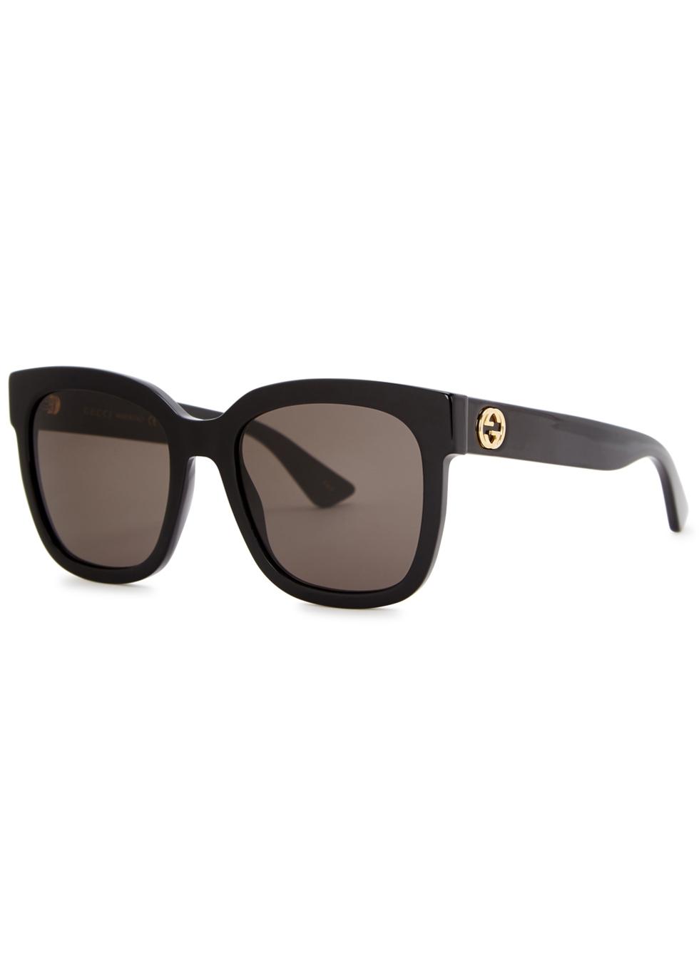 Black oversized sunglasses - Gucci