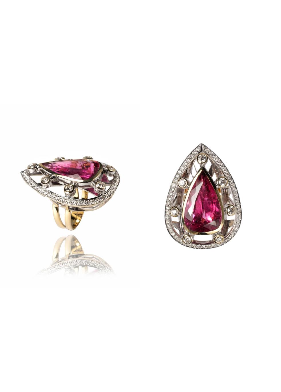 ARA VARTANIAN Rubellite And Diamonds Ring