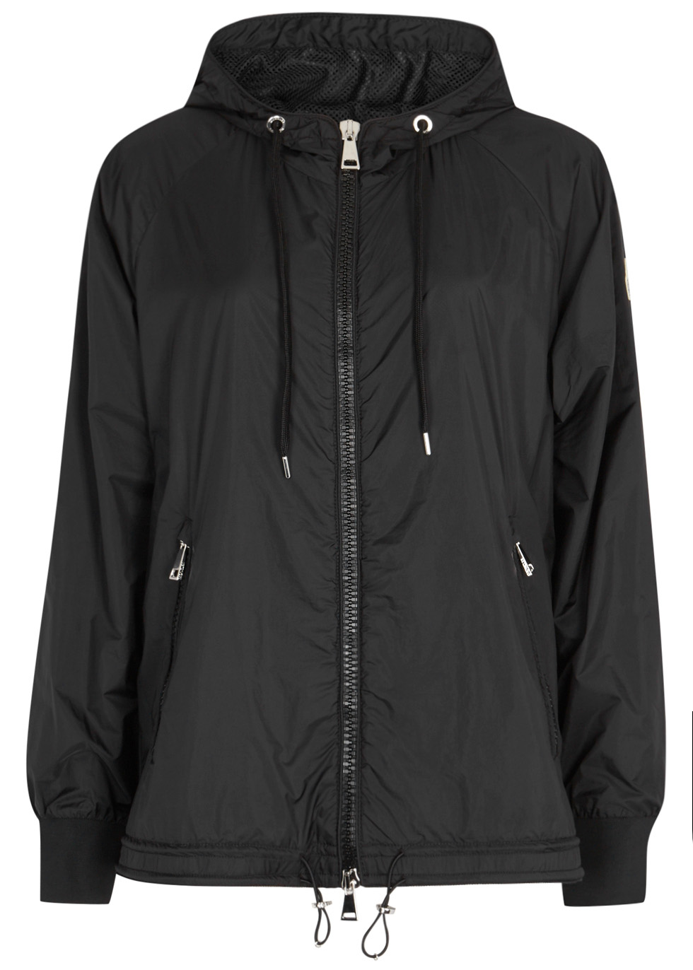 moncler black shell and wool blend jacket