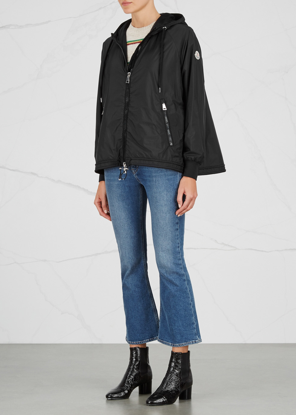 Orchis black packable shell jacket - Moncler