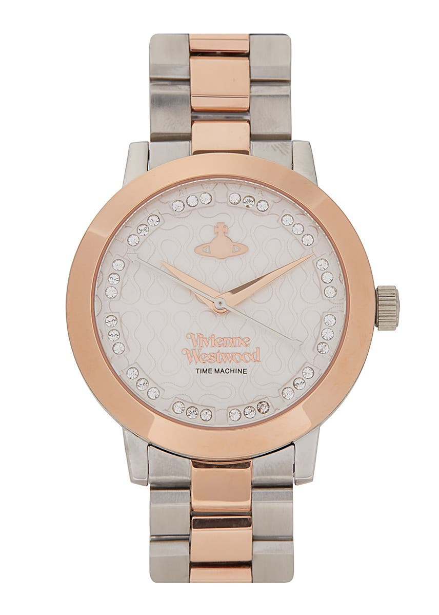 f4d3a0c12de Bloomsbury silver and rose gold tone watch Bloomsbury silver and rose gold  tone watch. Vivienne Westwood