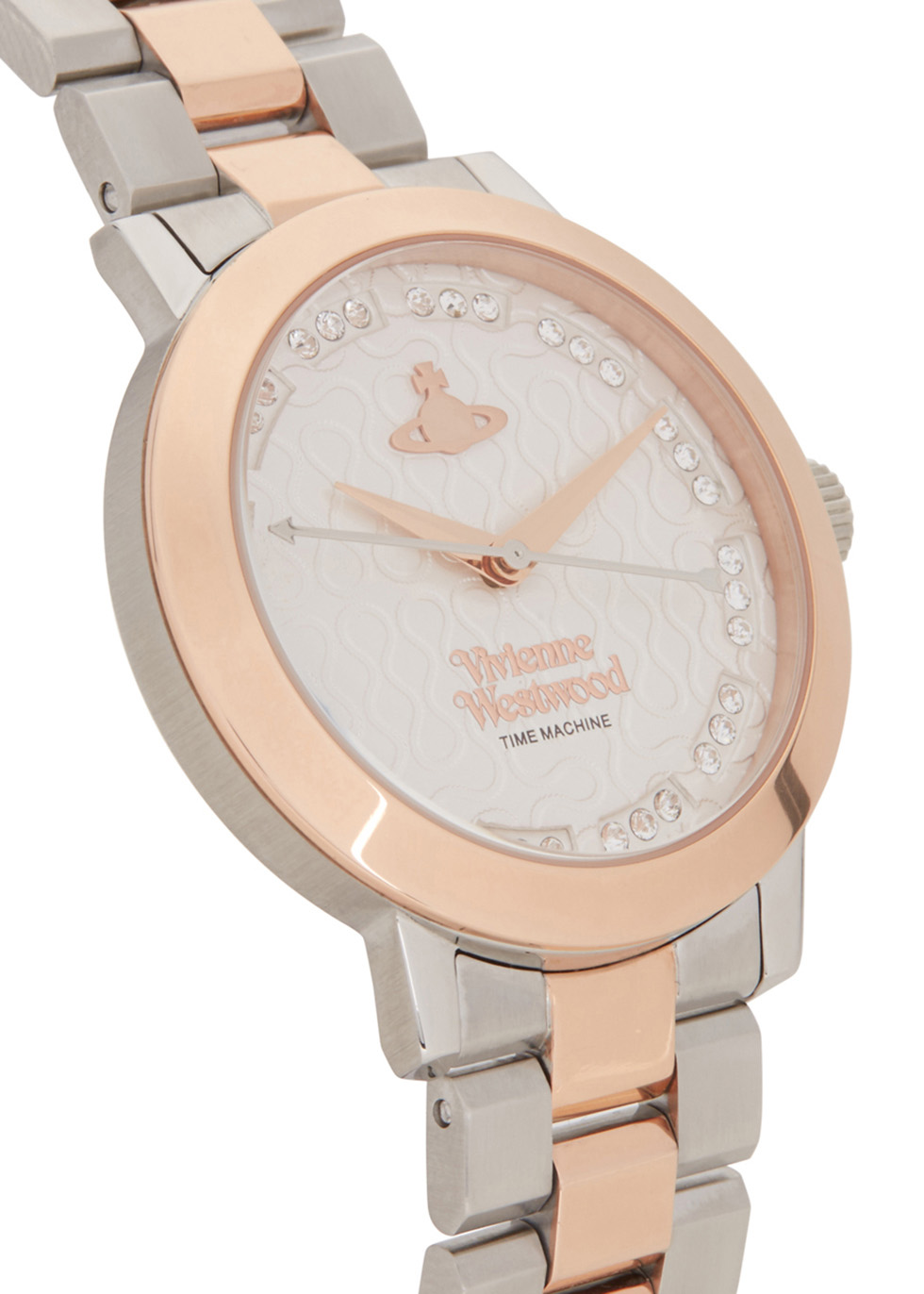 Bloomsbury silver and rose gold tone watch - Vivienne Westwood