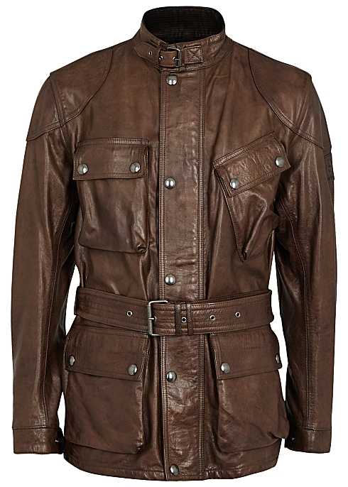 ebe78a1765 Belstaff Panther brown leather jacket - Harvey Nichols