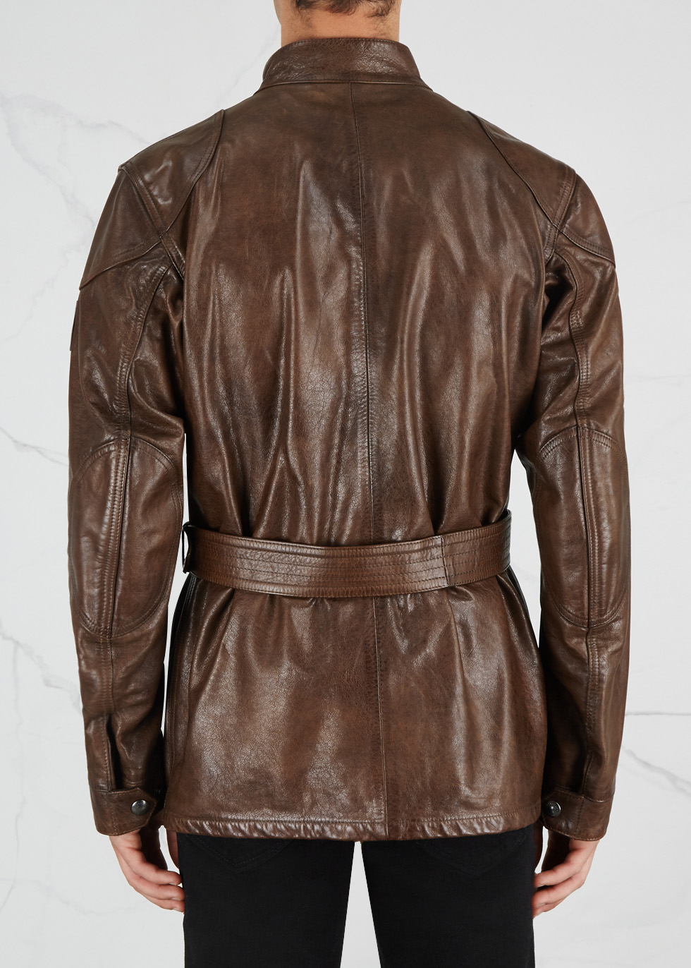 Panther brown leather jacket - Belstaff