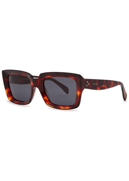 f2b8328d01 Celine Kate tortoiseshell square-frame sunglasses - Harvey Nichols