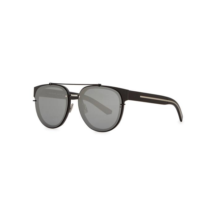 Dior Homme Black Tie 143S Matte Black Aviator-style Sunglasses
