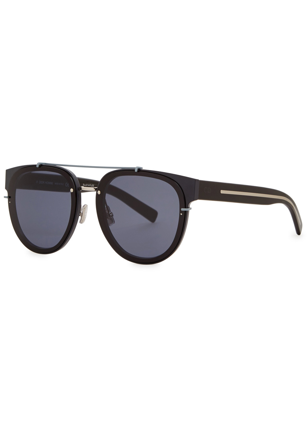 Black Tie 143S black aviator-style sunglasses - Dior Homme