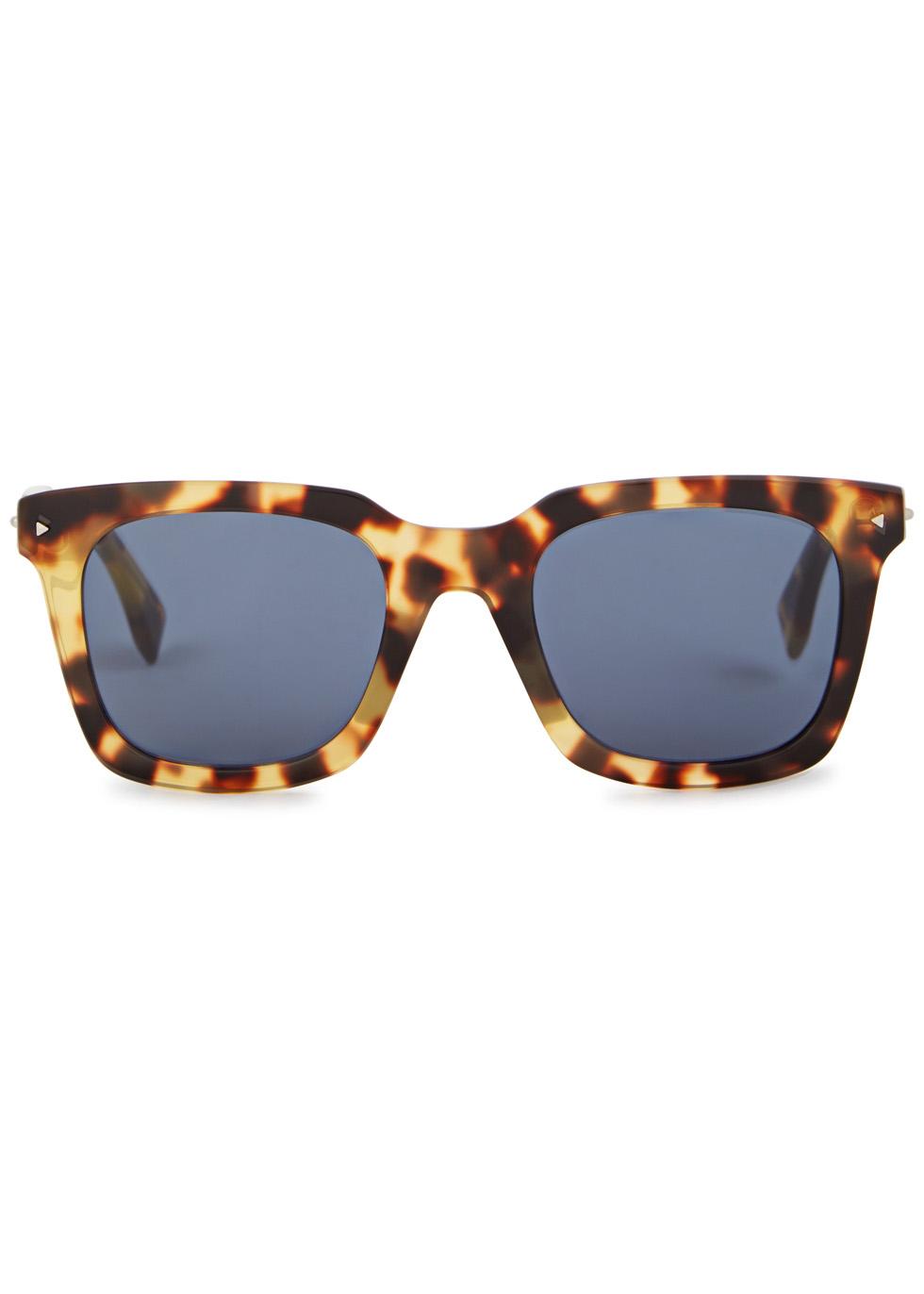 Tortoiseshell square-frame sunglasses - Fendi