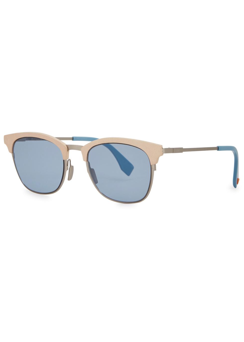 Blue clubmaster-style sunglasses - Fendi
