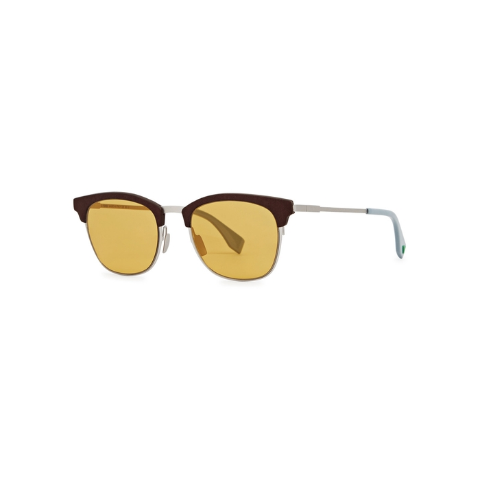 Fendi Brown Clubmaster-style Sunglasses