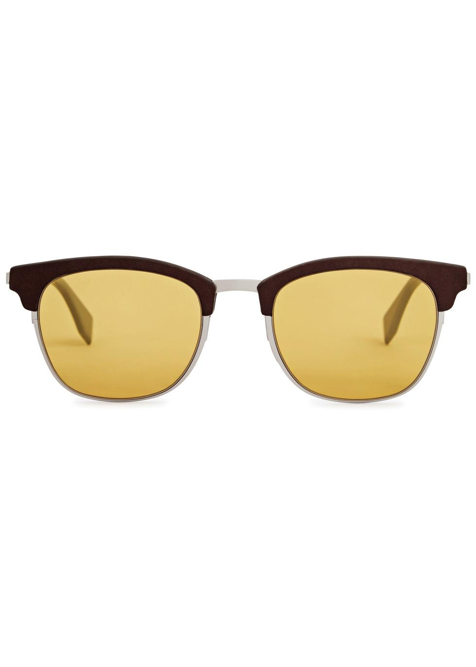 Brown clubmaster-style sunglasses - Fendi