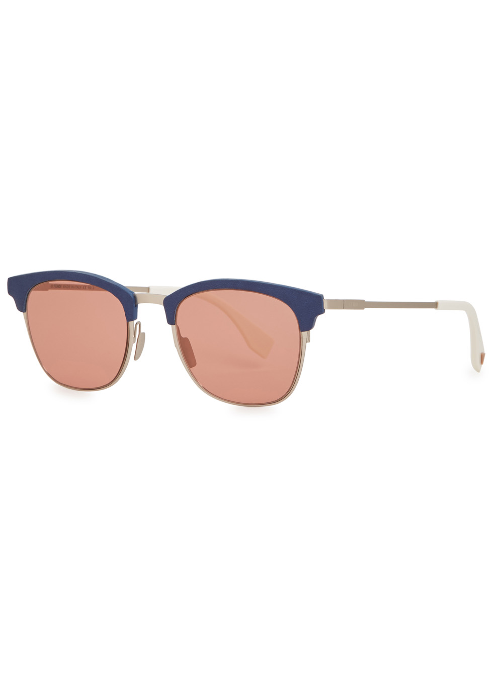 Red clubmaster-style sunglasses - Fendi