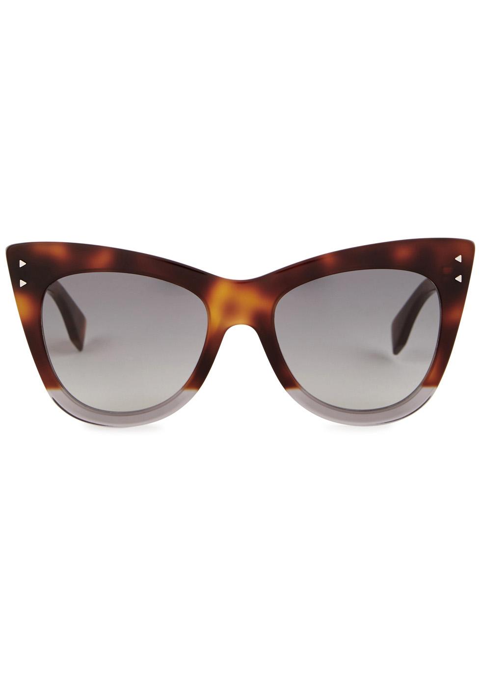 Tortoiseshell cat-eye sunglasses - Fendi