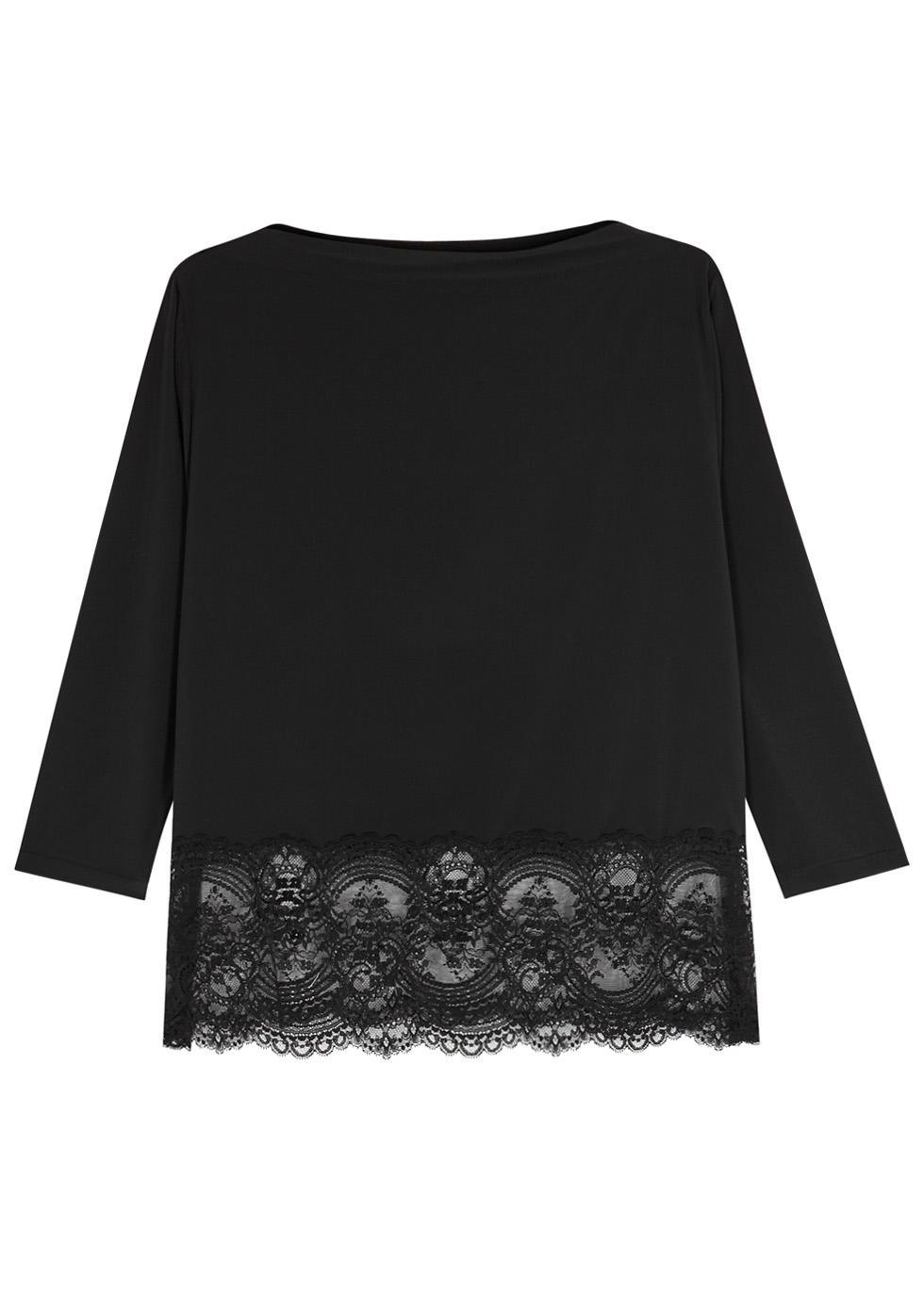 Chrystalle lace-trimmed pyjama top - Wacoal