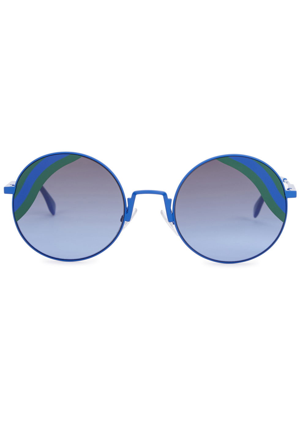 Waves blue round-frame sunglasses - Fendi