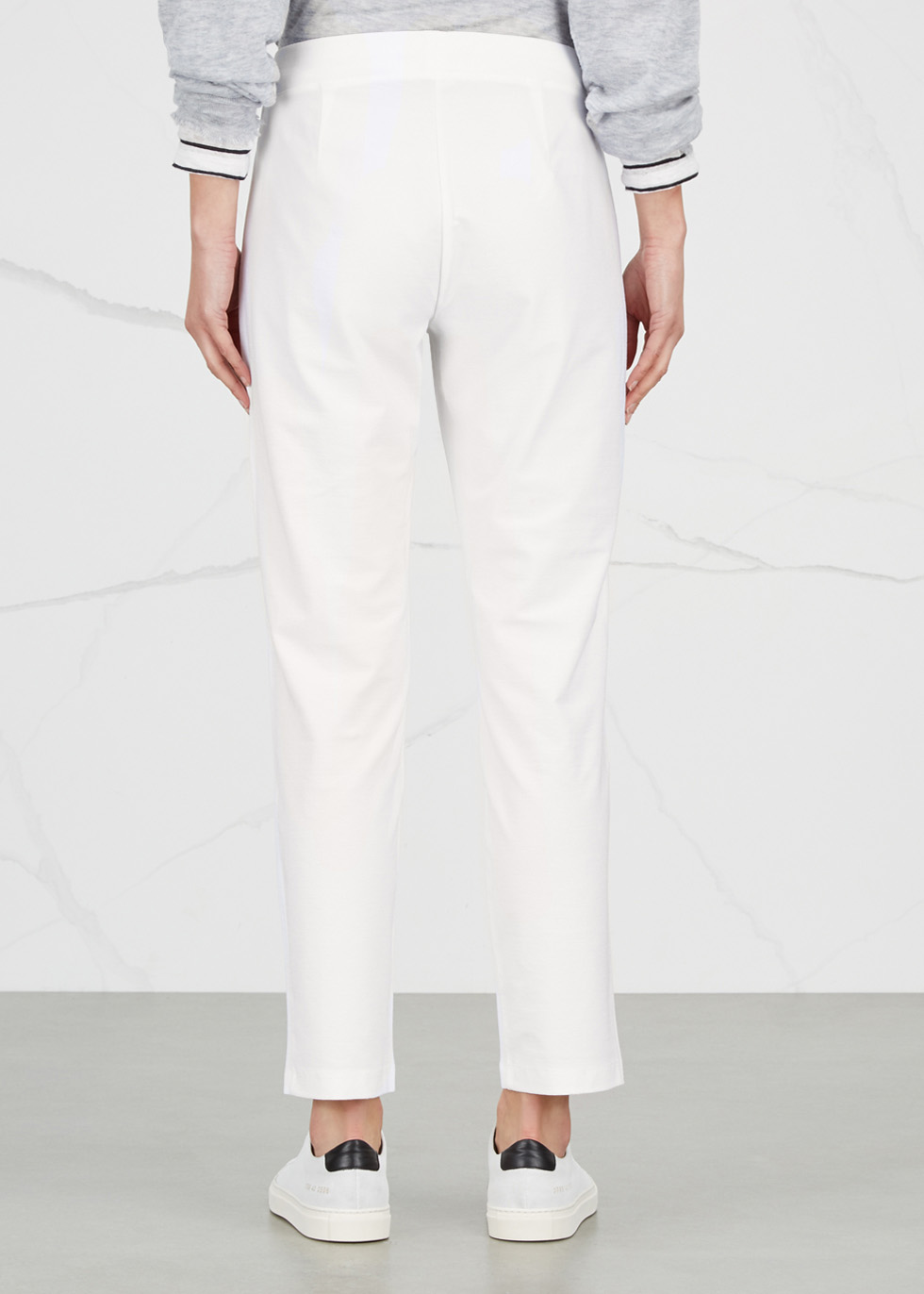 System white slim-leg trousers - EILEEN FISHER