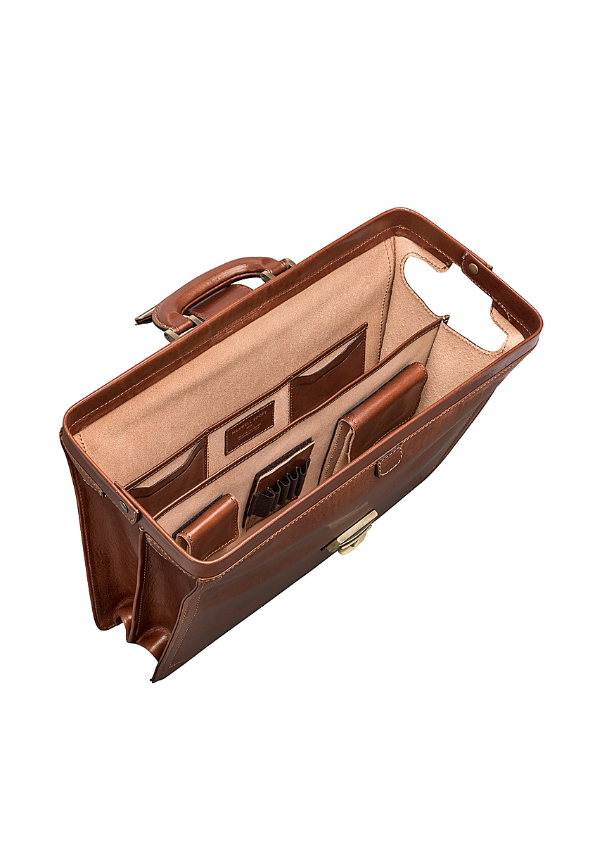 e39d3d28520dde ... Smart real leather tan executive briefcase for men. Online Only