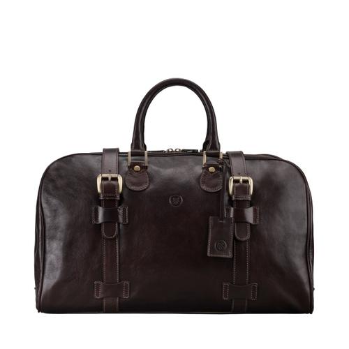 Maxwell Scott Bags Finest Italian Dark Brown Leather Mens Weekend Bag
