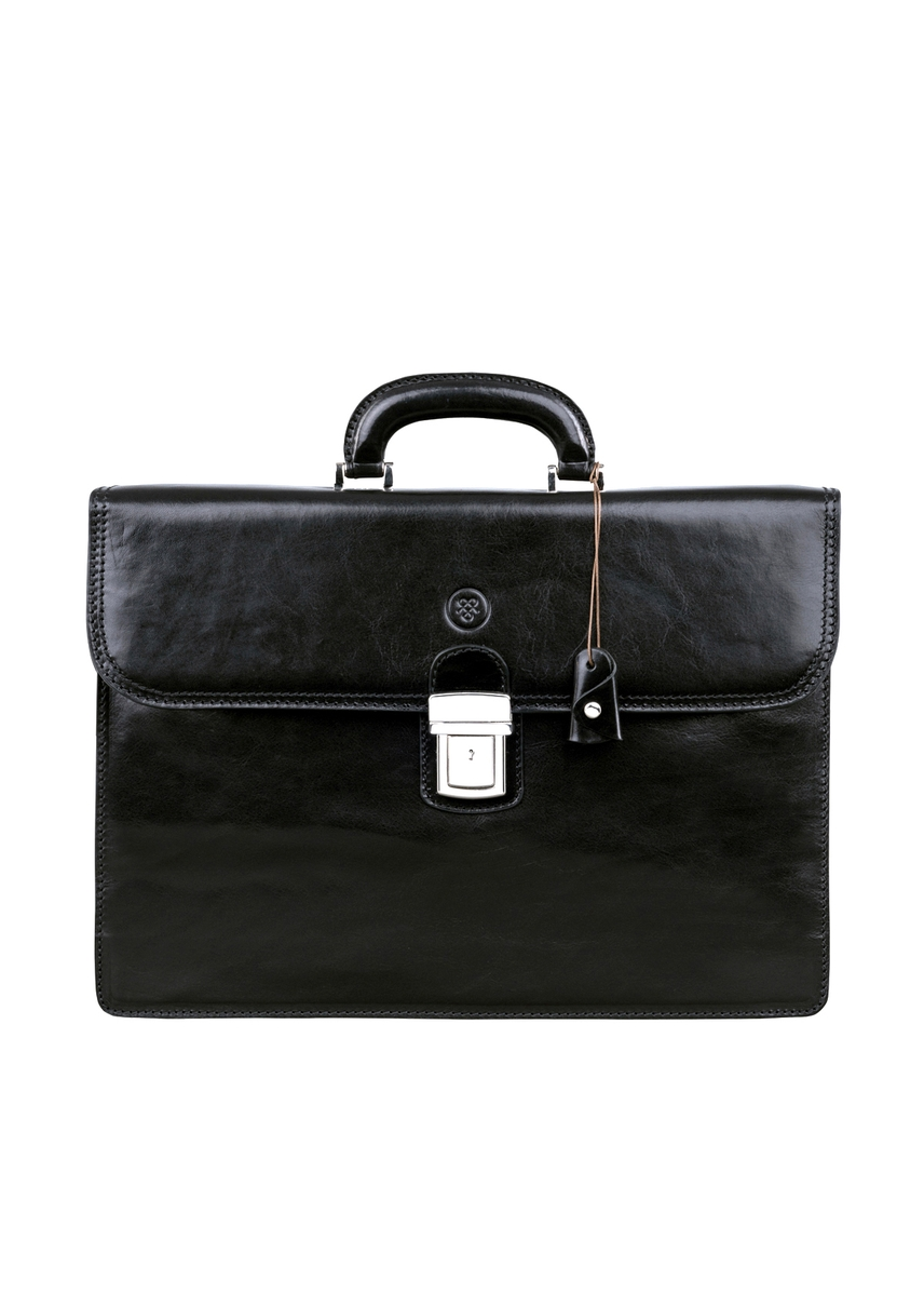8b2382edb0c5 Finely crafted black italian leather briefcase for men ...