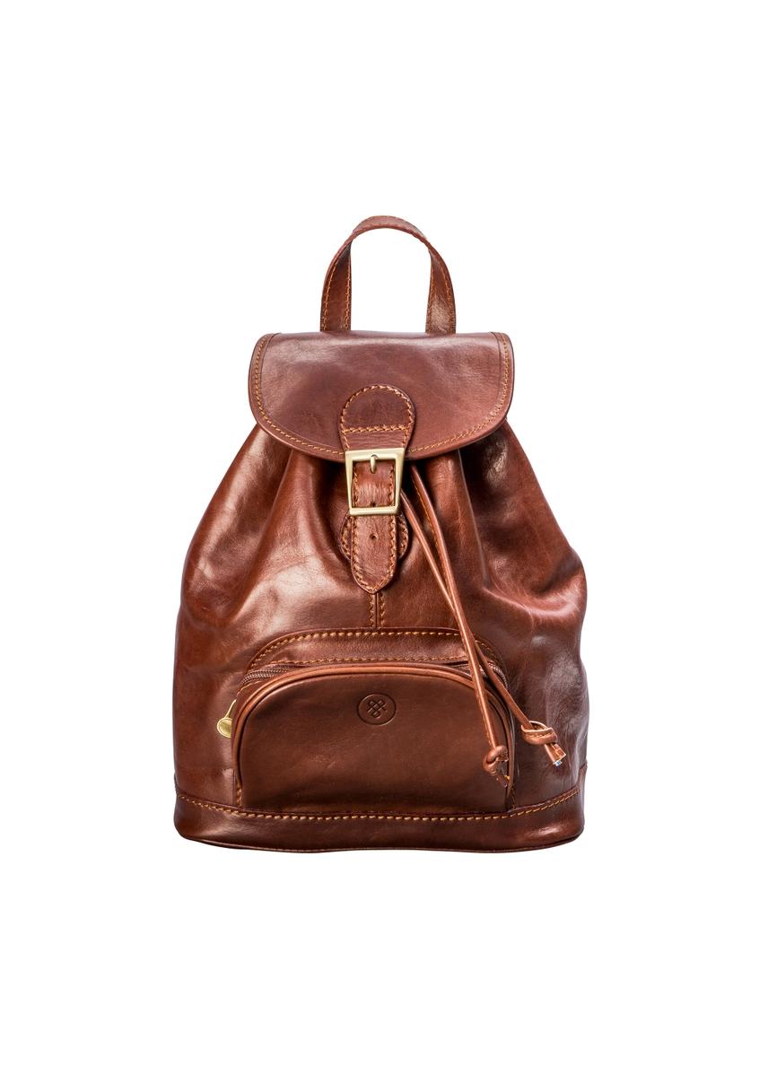 69b1b6d477a26 Rich chestnut tan leather rucksack for women ...
